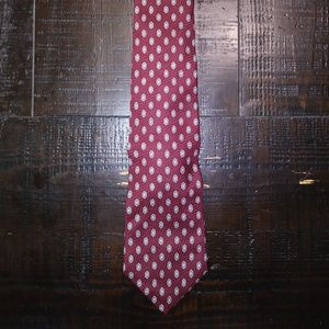 Vintage Burgundy Savile Row Silk Neck Tie E7